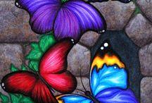 pinturas en vidrio