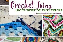 Crochet joinings.