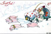 Scandinavian Pigs / by KatyDids Cards