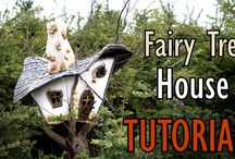 Fairy Garden Tree House / My fairy tree house.