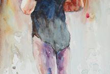 Målningar och teckningar