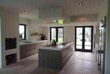 Vloer bungalow keuken