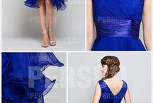 Robes bleues royal