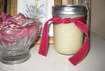 Homemade creams / bodylotion