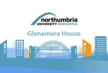 Accommodation: Glenamara House / Glenamara House is a six storey City Campus based building.  Standard single occupancy study bedrooms are in selfcontained flats for groups of six to eight people.  Students share an open plan kitchen with communal living space and bathroom facilities. There are also two self-contained apartments available in this residence. Self catered shared flats , own washbasin in room, high speed internet access, launderette, 24 hour security support, limited parking at additional cost.