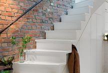 Schody / pomysły na ściany przy schodach