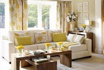 Grey and Yellow Living Room Ideas 2012