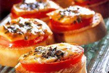 Stokbrood met tomaat en kaas