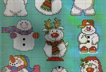 winter / sneeuwpoppen   borduren