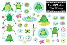 Frogs / Inspiration board for afrogatlarge.com logos