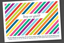 Gender Reveal Party - Stripes & Dots / Party products that fit our stripes gender reveal invitation and decor items: http://etsy.me/wfpy1j and http://etsy.me/xjMHt4