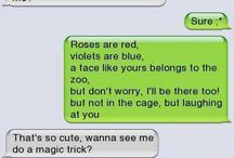 Text Messages / All of the kinds of text messages: funny, cute...