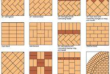 Driveway brick laying designs