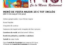 Menú de Festa Major 2012 / by Restaurante Ca la Maria