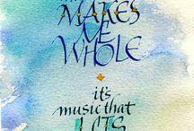 It's music...