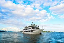 Halong Silver Sea Cruise / Length overall 47 m | Beam 9.2 m | Freeboard 2.65 m | Dra 1.6 m | Launched Sep-2015 | Cabins 18 | Passengers 40 | Crews 22