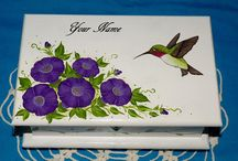 Decorative Hand Painted Wooden Jewelry Boxes