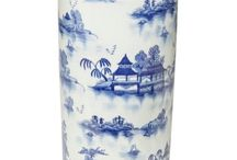 Chinoserie blue and white