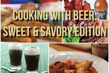 Cooking with Beer / Beer is the freaking best. Not only does it taste amazing, but it adds a very unique flavor to a lot of different dishes out there, be it an appetizer, entree or dessert. Bon a petit!