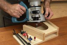 Diy woodworkshop plans / Rauter stand