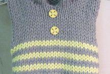 Knitting / Boy hoody vest