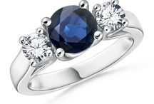 Classic-Blue-Sapphire-and-Diamond-Three-Stone-Cathedral-Ring