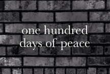 One Hundred Days of Peace / I write a peace poem a day for One Hundred Days to remember all children harmed in adult war.  Walk with me.