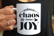 """Joy & Chaos by Psychobaby / Joy and Chaos. Two of our favorite words - which together, perfectly capture the reality of modern life. We bring that spirit to life in our line of clothing, accessories and housewares.   Joy and Chaos is an evolution from our kids line, Psychobaby. We have been creating cool kids clothing and gifts since 2008, and are loving our new """"grown up"""" styles which reflect the same cool, irreverent attitude."""