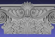 3d Architectural Models for machining / We provide 3d models of architectural ornaments for exclusive cabinetry, interior design and historic woodworks.