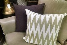 Pillows!!! / Pillows can add so much to your décor.  And it is an inexpensive, easy way to change things up, add color, add texture and add interest.
