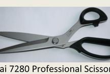 Kai Scissors for DIY &  Pros / Kai Scissors are the new generation of professional tailoring shears or drapery workroom scissors.   Use by 90% of the drapery workrooms in the USA.