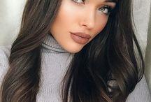 brown lips make up