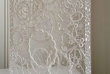 painting lace on plexy glass