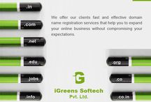 Domain Registration / This boards tells u about  the domain registration that igreens softech provides.