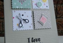 Sewing themed cards