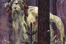 wiedźmin + potwory z mitologi słowiańskiej