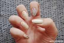 DOTTED Nails / Manicures created using dotting tools. Simple, but beautiful! :)