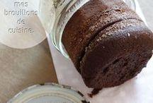 gâteau  o chocolat  en bocal