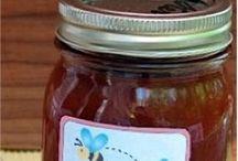 Homemade  sales,jam's  eat / Homemade stuff in a jar.