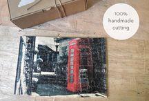 Hand cut wooden puzzle / Ξύλινα χειροποίητα παζλ φτιαγμένα με πολύ μεράκι..