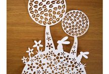 Spring paper decoration