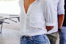 White button down for travel