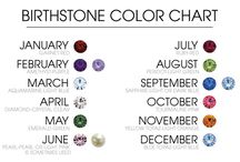 Birthstones / Each month has it's own birthstone. When we where born it really effects how our personality develops. Wearing your birthstone in a piece of jewellery...it doesn't get more personal than that