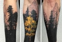 Tattoo forest,wolf