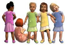 Sims 2 Toddler Clothes - Female