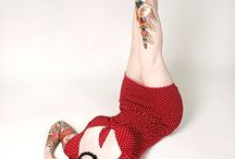 Rockabilly pin-up vintage