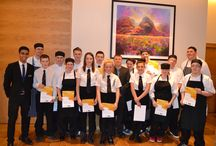 Culinary Excellence / Over the past few weeks, Hilton Glasgow has played host to students from Drumchapel High School whilst they mastered skills in the kitchen and of service in the Restaurant. On the 26th November, members of the school, the hotel and the local education board enjoyed the wonderful lunch the students have been preparing.