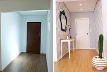 Antes e Depois / O antes e depois do apartamento desde o dia da compra até os dias atuais. Passando por todas as transformações que aconteceram durante a decoração!