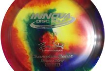 Dyed Discs / A collection of dyed disc golf discs.