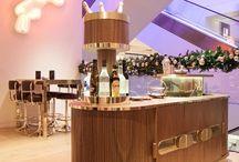 Lee Broom bar for Selfridges / Lee Broom designs mobile cocktail bar for Selfridges in London